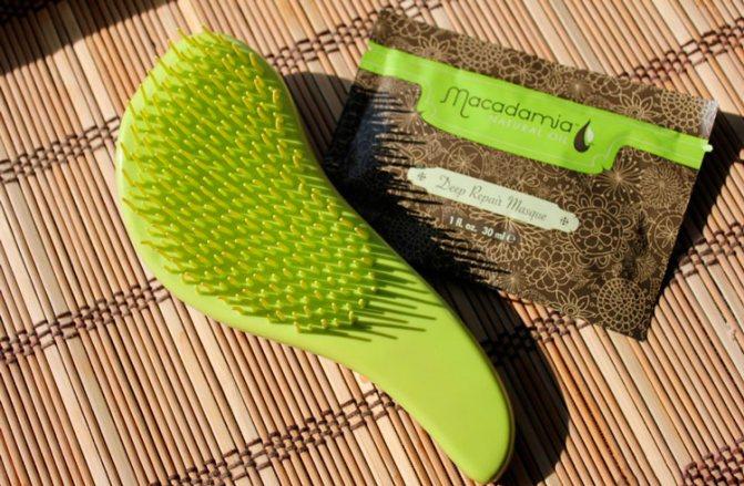 расческа Макадамия для нарощенных волос