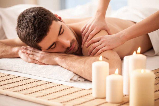 расслабляющий массаж парню
