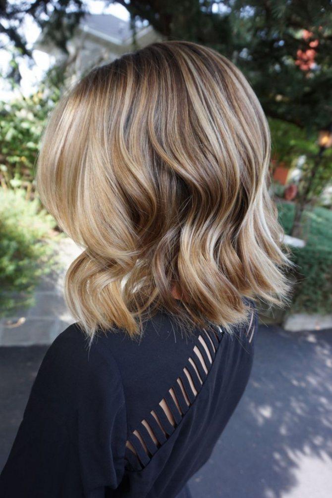 Растяжка цвета на светлые волосы