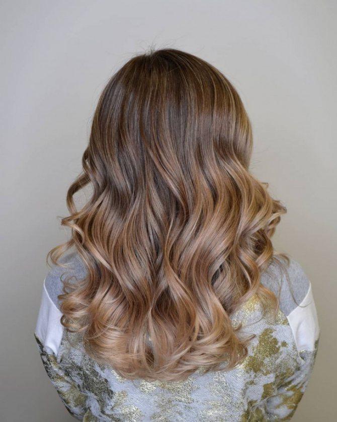 Растяжка цвета на волосах фото
