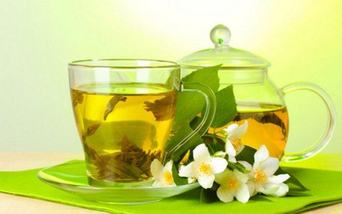 Разгрузга на зелёном чае