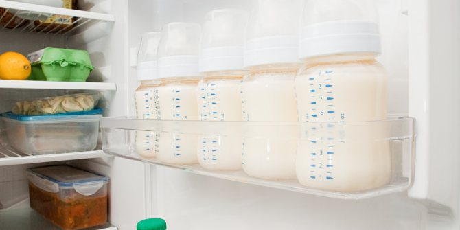 Разморозка грудного молока
