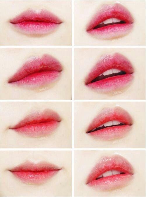 Размытый контур губ