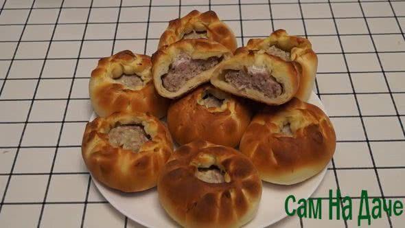 рецепт беляшей с мясом в духовке