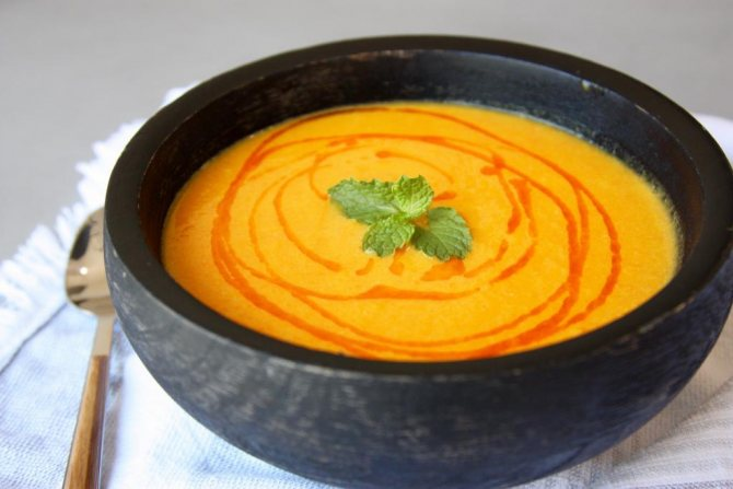 рецепт диетического овощного супа-пюре