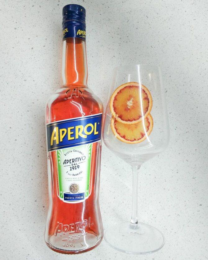 рецепт коктейля с Аперолем