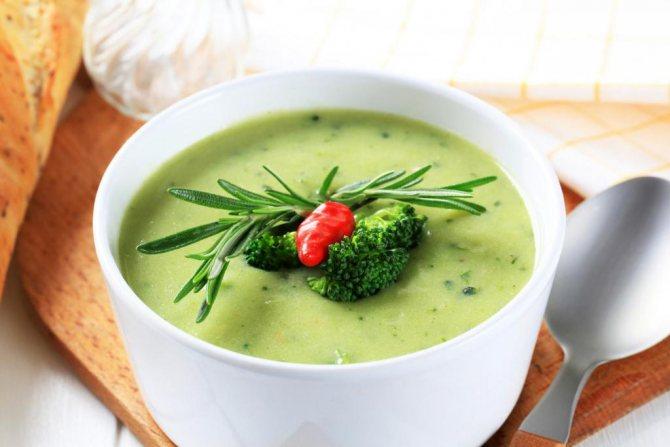 рецепт овощного супа-пюре