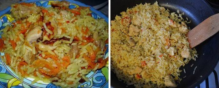 Рецепт риса с курицей