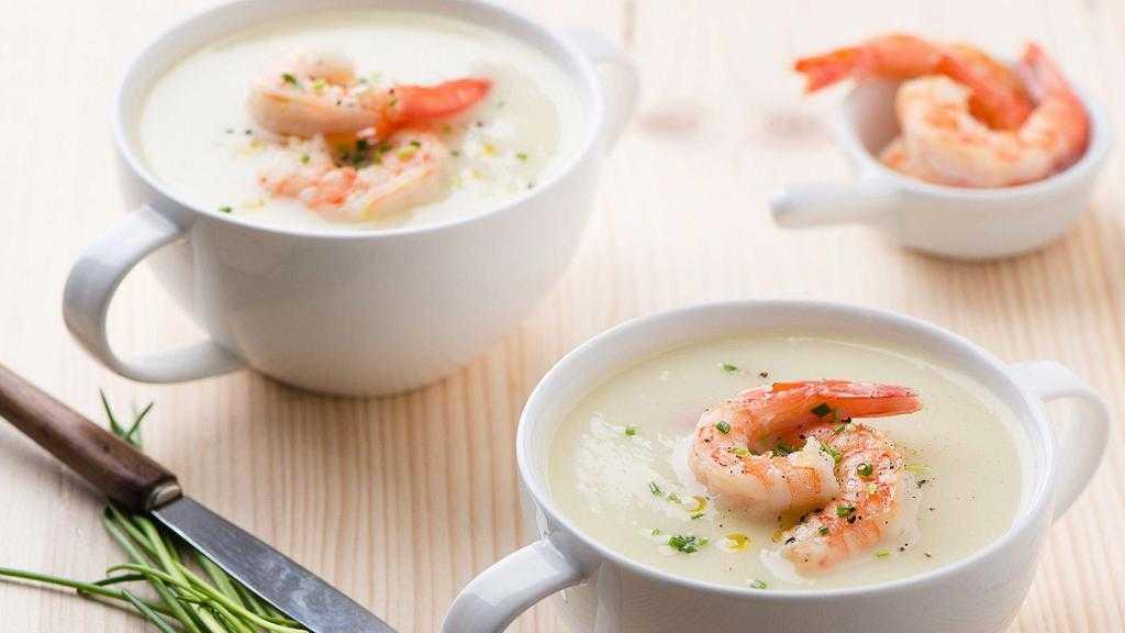 рецепт с фото сливочного супа с морепродуктами