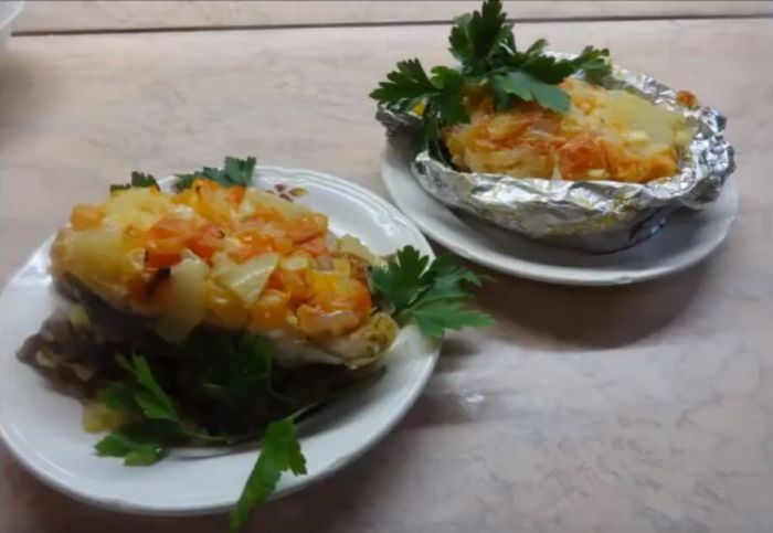Рецепт семги с овощами