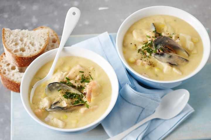 рецепт сливочного крем-супа с морепродуктами