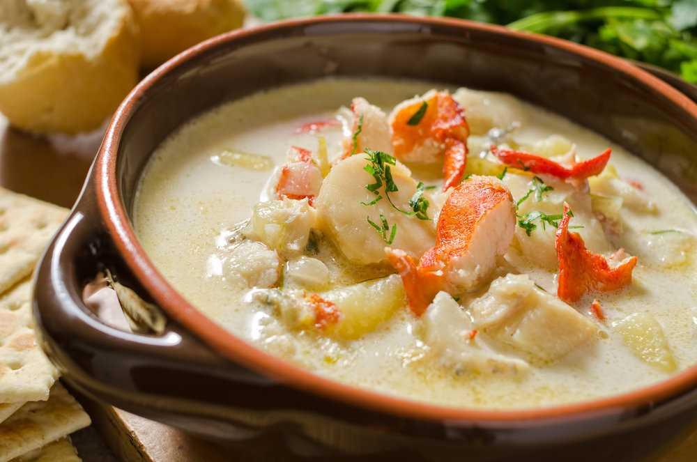 рецепт сливочного супа из морепродуктов