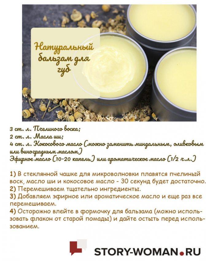 Рецепты бальзама для губ
