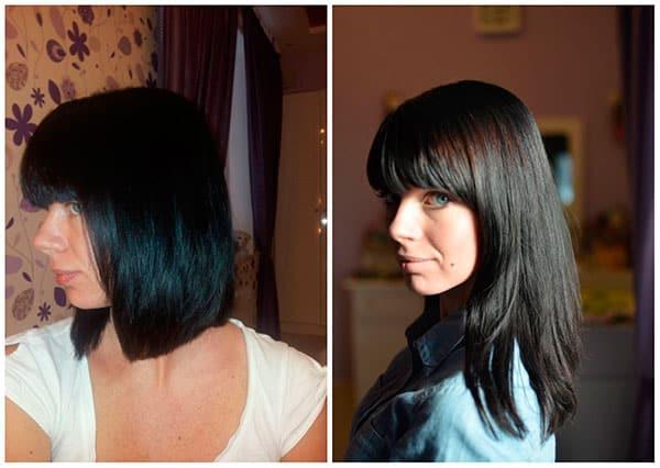 Результат правильного ухода в процессе отращивания волос