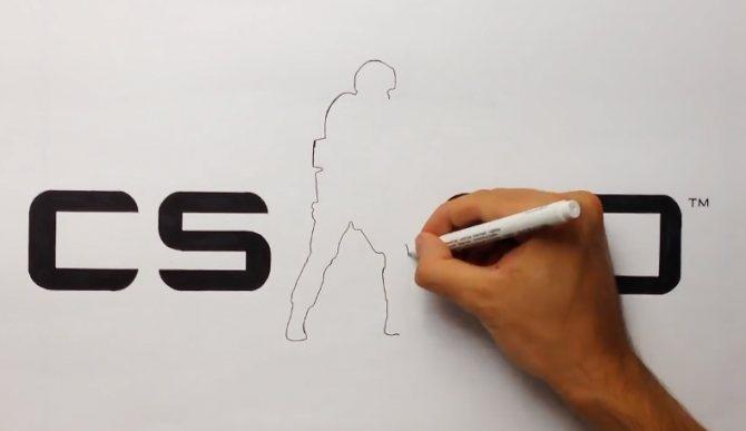 рисуем кс го карандашом
