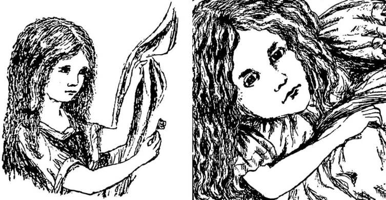 Рисунки из Льюиса Кэрролла рукописи «Алиса под землёй»