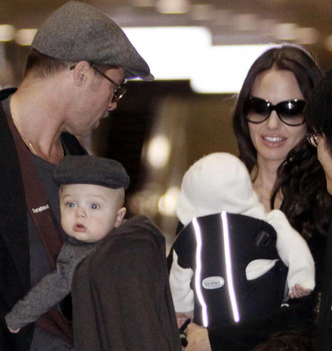 Родные дети Джоли и Питта