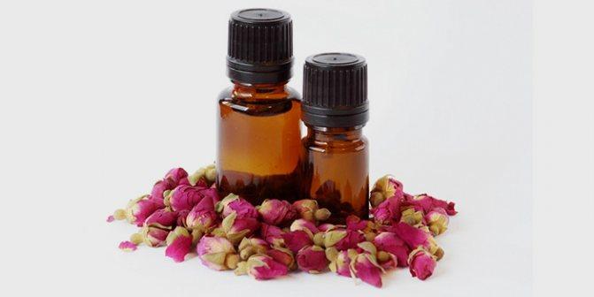 Розовое масло от перхоти и зуда кожи головы