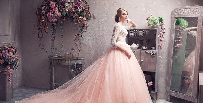 Розовое свадебное платье во сне