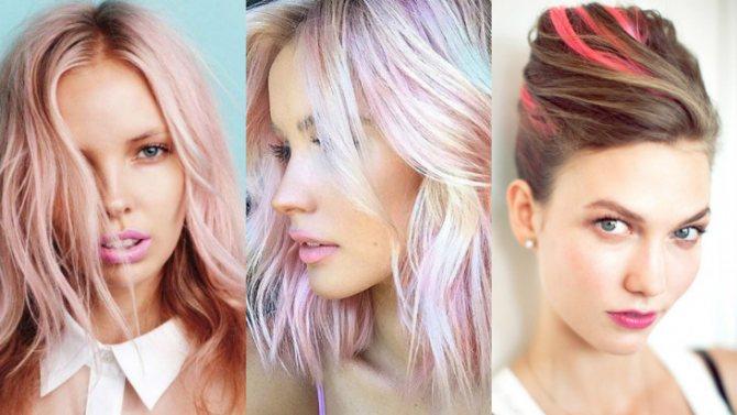 Розовые волосы окрашивание примеры