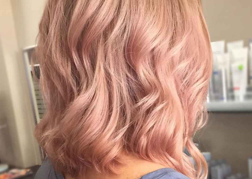 розовый бежевый блонд