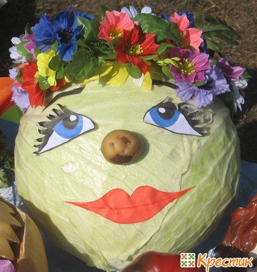Русская красавица из капусты