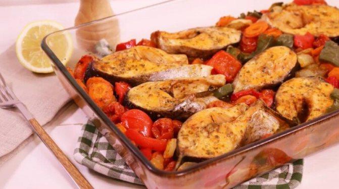 Рыба, запеченная с овощами в фольге в духовке — очень вкусный фото-рецепт