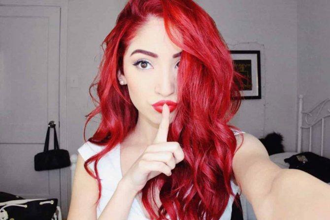 рыжая краска для волос Igora