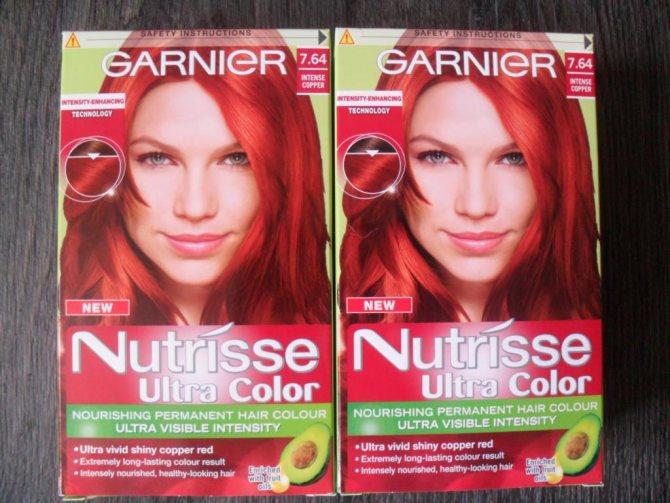 Рыжая краска для волос от Garnier