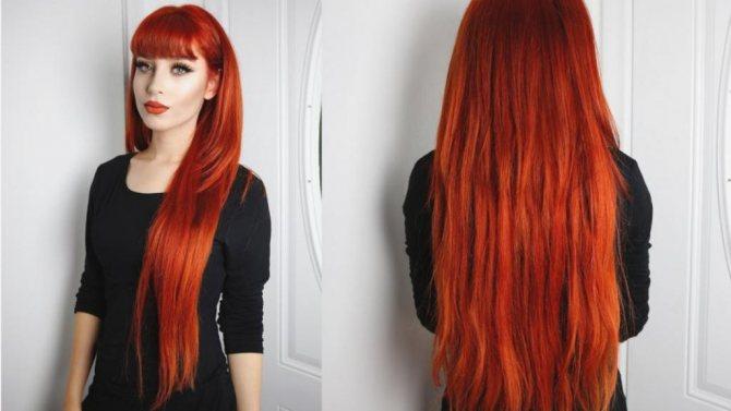 Рыжая краска для волос Palette