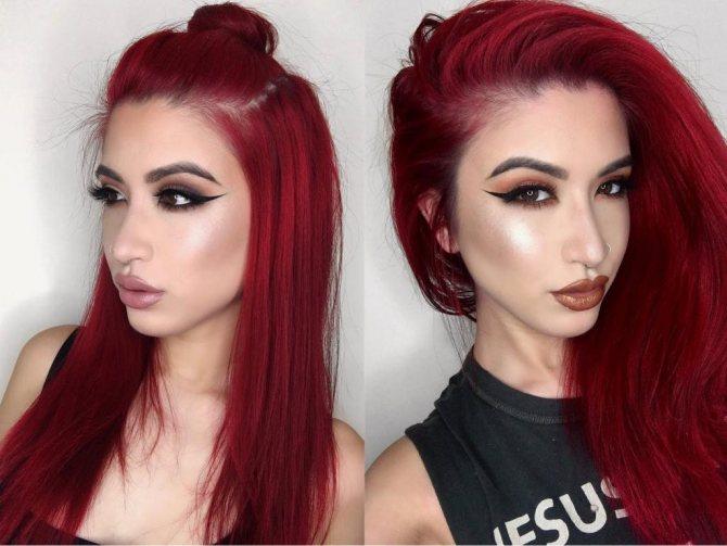 Рыжая краска для волос Syoss