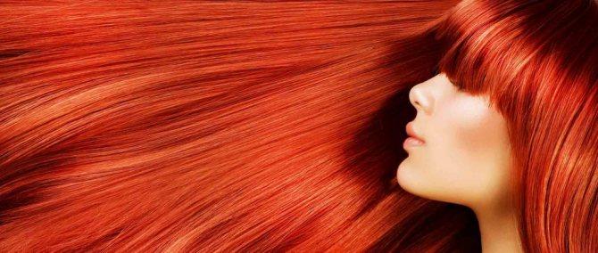 Рыжая краска для волос