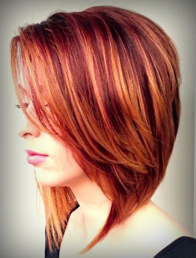 Рыжая краска - на темные волосы