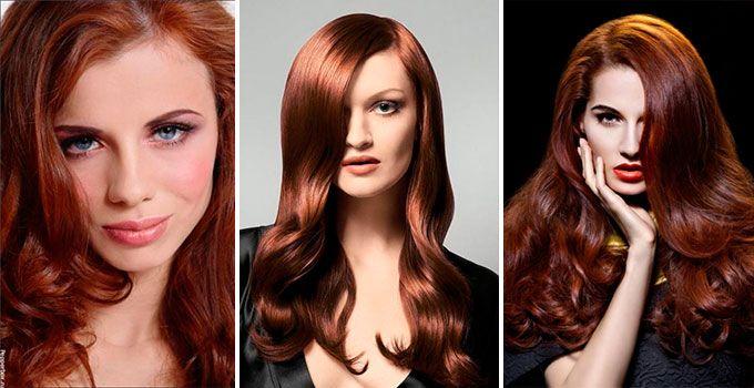 Рыже-коричневый цвет волос