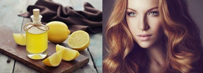 Рыжеволосая женщина и лимон