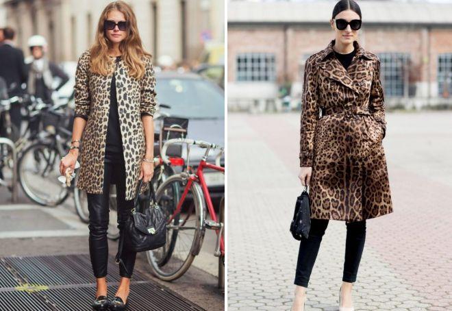 с чем носить леопардовый плащ