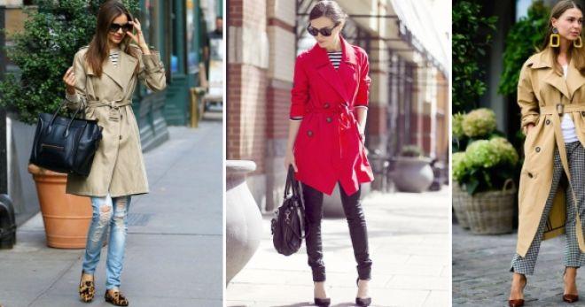 С чем носить плащ – идеи для самых модных современных образов
