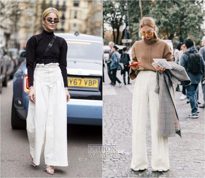 С чем носить широкие брюки: модные идеи на каждый день фото №13