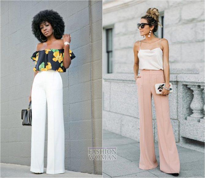 С чем носить широкие брюки: модные идеи на каждый день фото №19