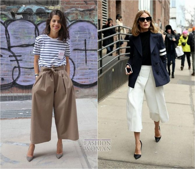 С чем носить широкие брюки: модные идеи на каждый день фото №22