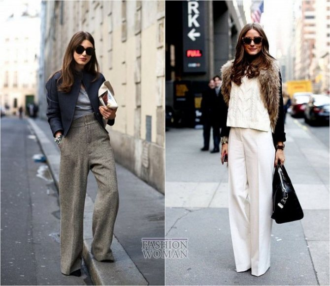 С чем носить широкие брюки: модные идеи на каждый день фото №5