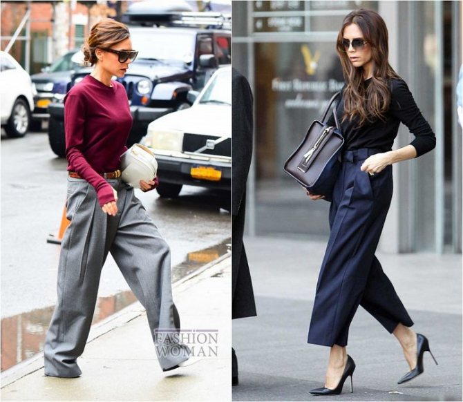 С чем носить широкие брюки: модные идеи на каждый день фото №32