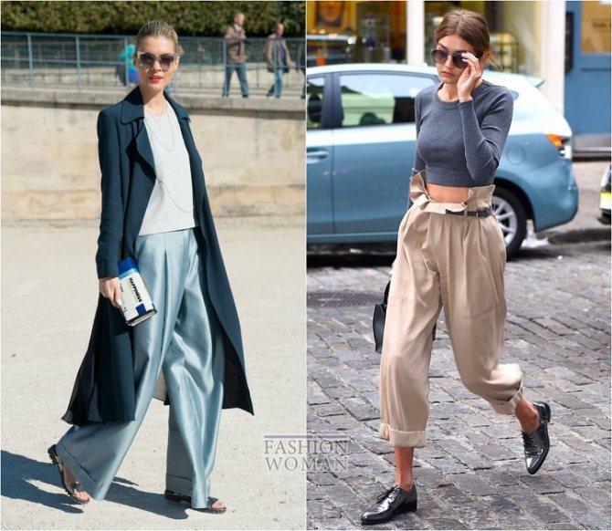 С чем носить широкие брюки: модные идеи на каждый день фото №34