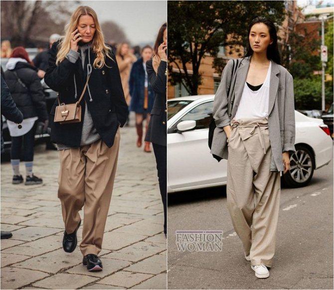 С чем носить широкие брюки: модные идеи на каждый день фото №35