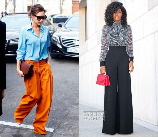 С чем носить широкие брюки: модные идеи на каждый день фото №8