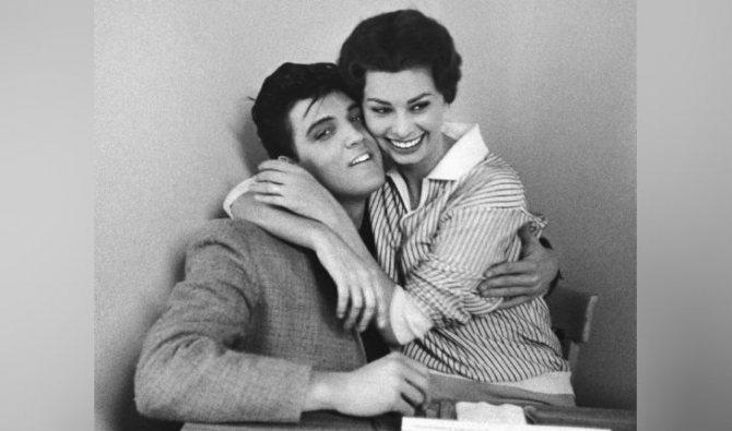 С Элвисом Пресли (1958 год)