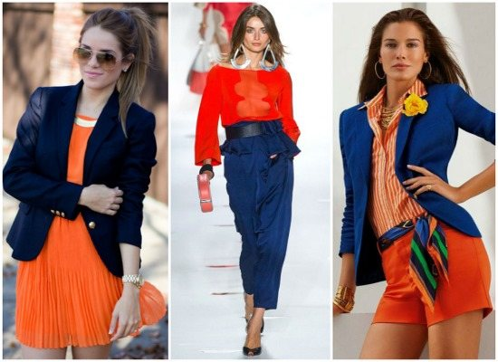 С каким цветом сочетается синий в одежде для женщин. Фото, что означает, с чем носить, кому идет