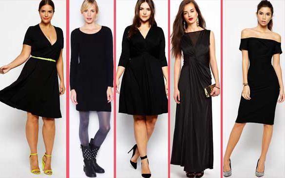 С какой обувью одеть черное платье