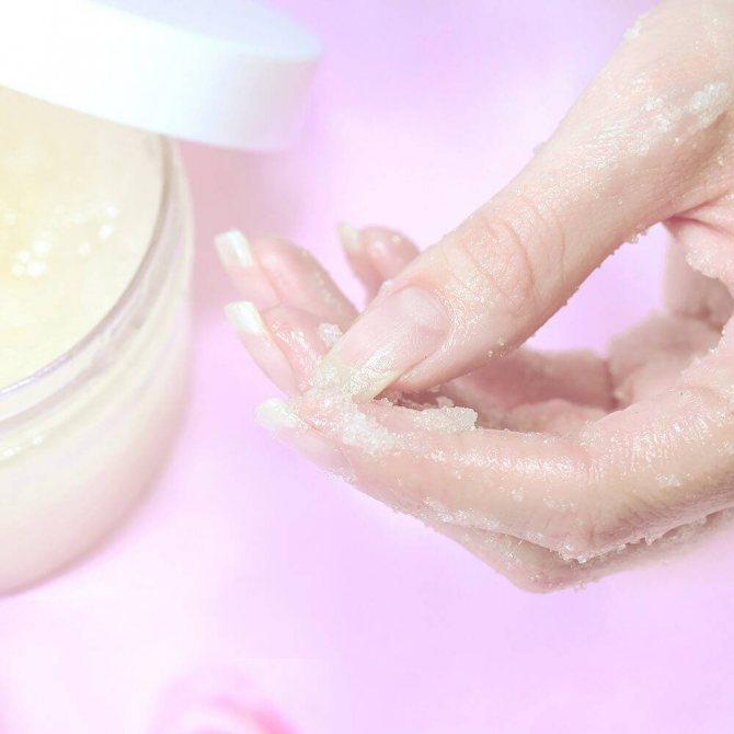 сахарный скраб для рук и тела «CITRUS FRUIT» 8023 с маслами кокоса и лемонграсса