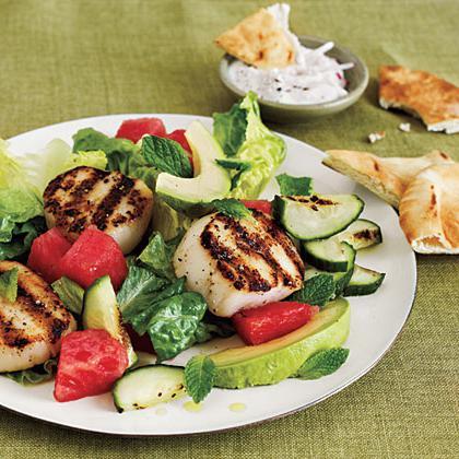 салат из морского гребешка